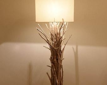 Driftwood floor lamp,driftwood decor,beach,lighting,driftwood art,coastal,nautical,wood lamp,lake,cottage,rustic,modern,farmhouse,minimal