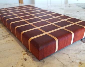 Padauk Maple End Grain Cutting Board