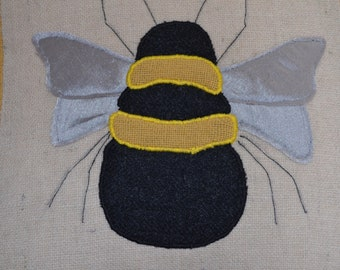 Bee Cushion - Complete Harris Tweed Cushion