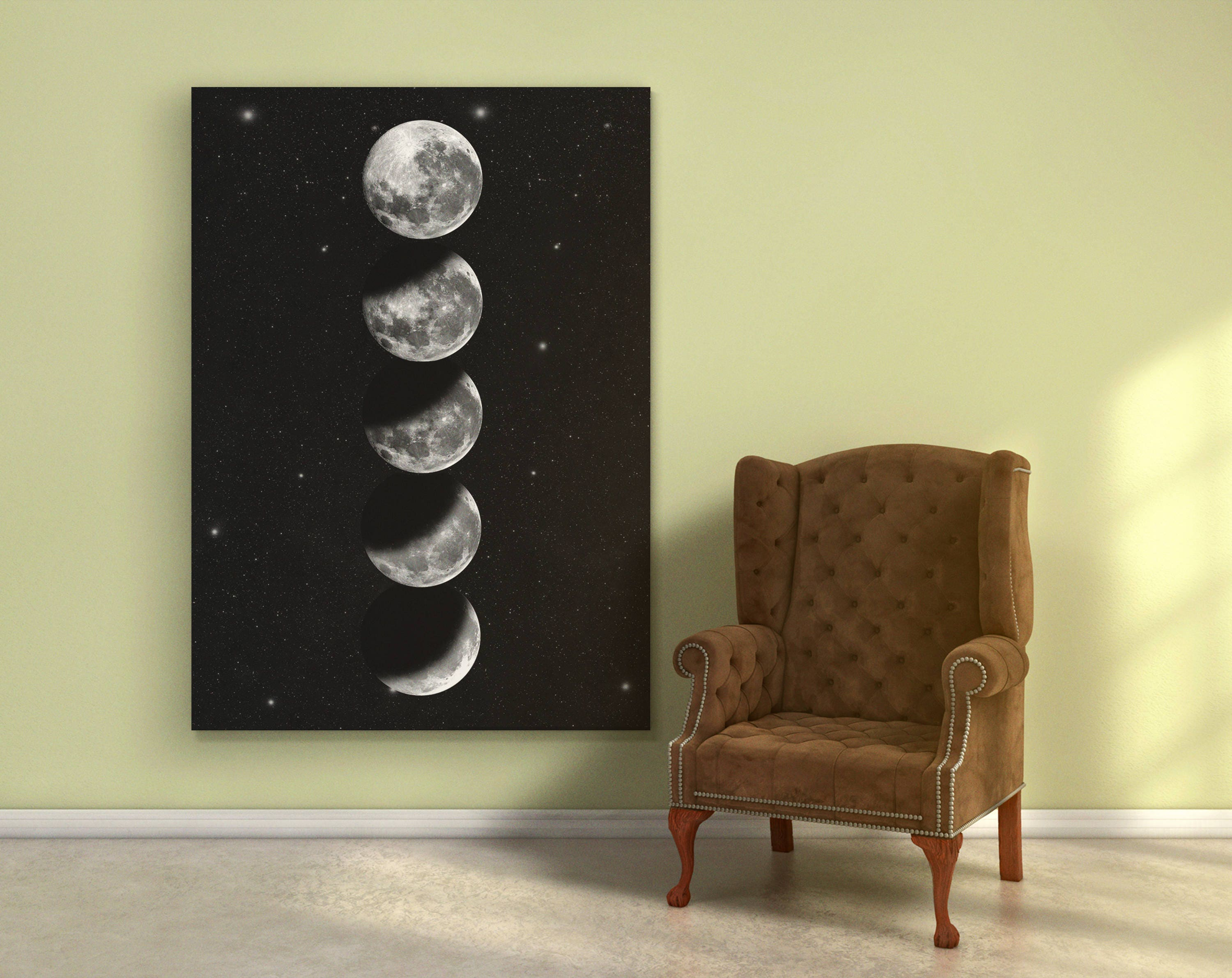 Moonphase print. Moon Wall Art. Moon Nursery. Moon Phases