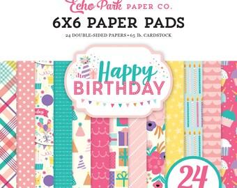 Happy Birthday Girl 6x6 Paper Pad