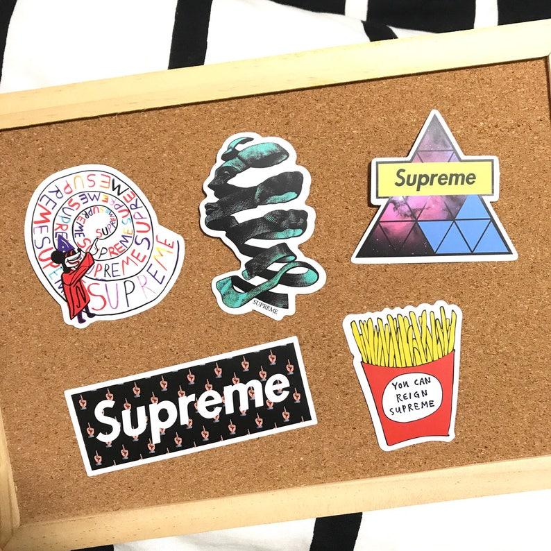 a77d5b8370e5 SUPREME Laptop Stickers