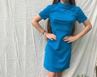 1950s style mod sheath dress size S