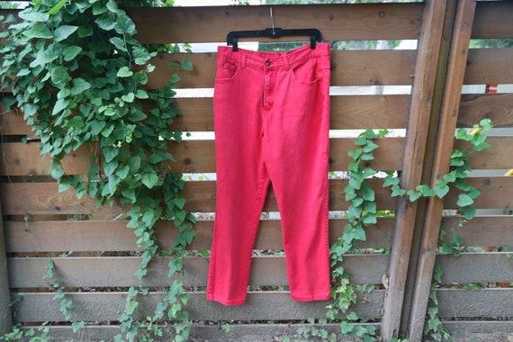 Vintage Men's Jeans / Red Jeans / Vintage Denim /