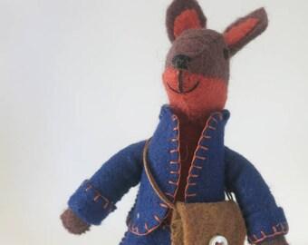Felt Fox toy, Felt Fox, Felt Animal, Waldorf Toy, Felt doll for girl or boy