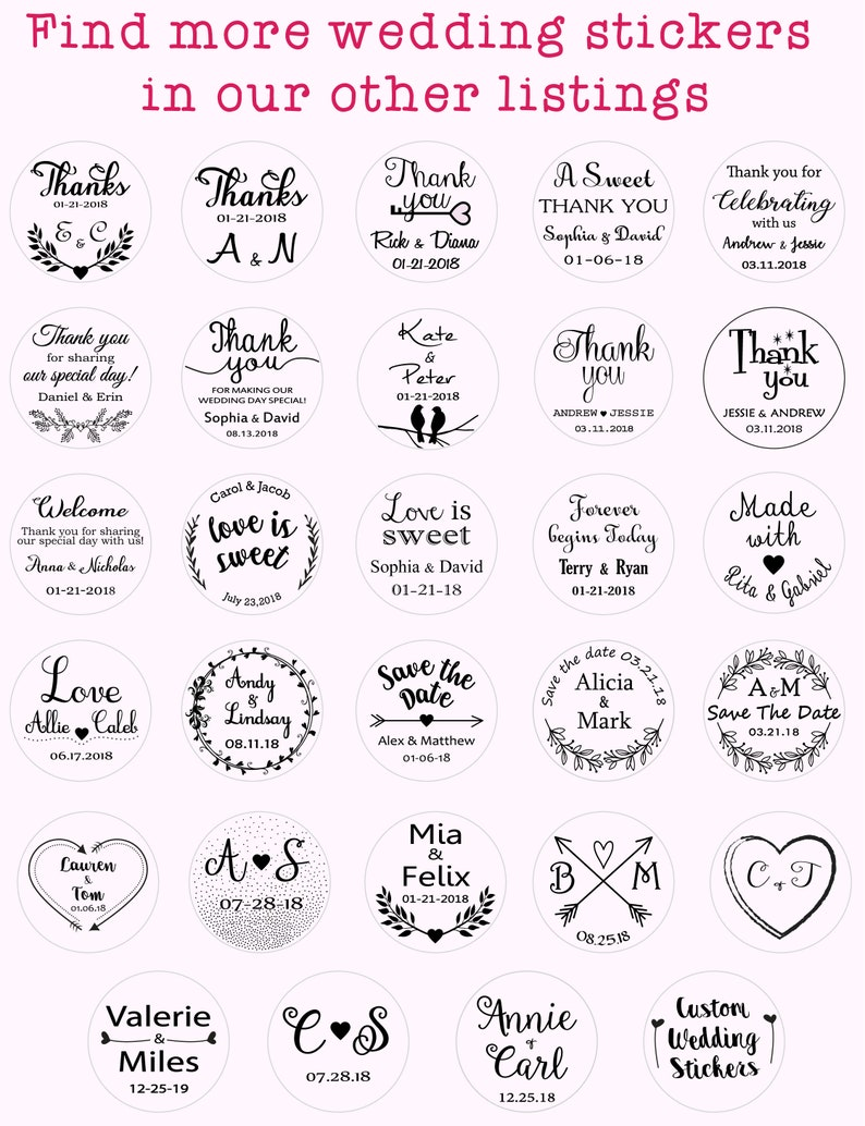 welcome wedding labels Personalized wedding stickers foil stickers thank you stickers wedding favor stickers Bridal shower stickers