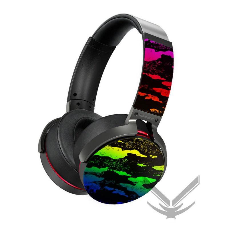 79fdcb775f3ea Custom Rainbow Splatter painted Sony Wireless Headphones - MDR-Xb950bt  MDR-Zx7700bt - Customizable Sony Headset