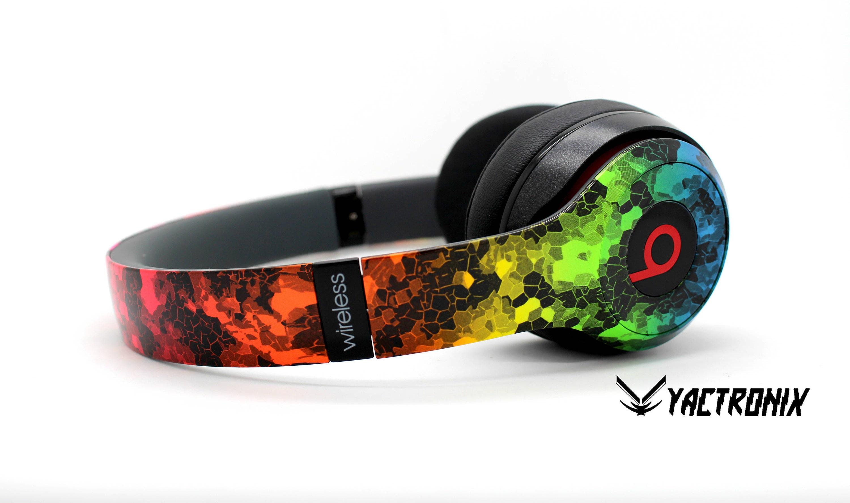 6ed18046ce4ea Custom Rainbow Hex Beats By Dre Headphones - Bluetooth Studio Headset -  Customizable Beats Gift for him - Studio 1.0 Studio 2.0