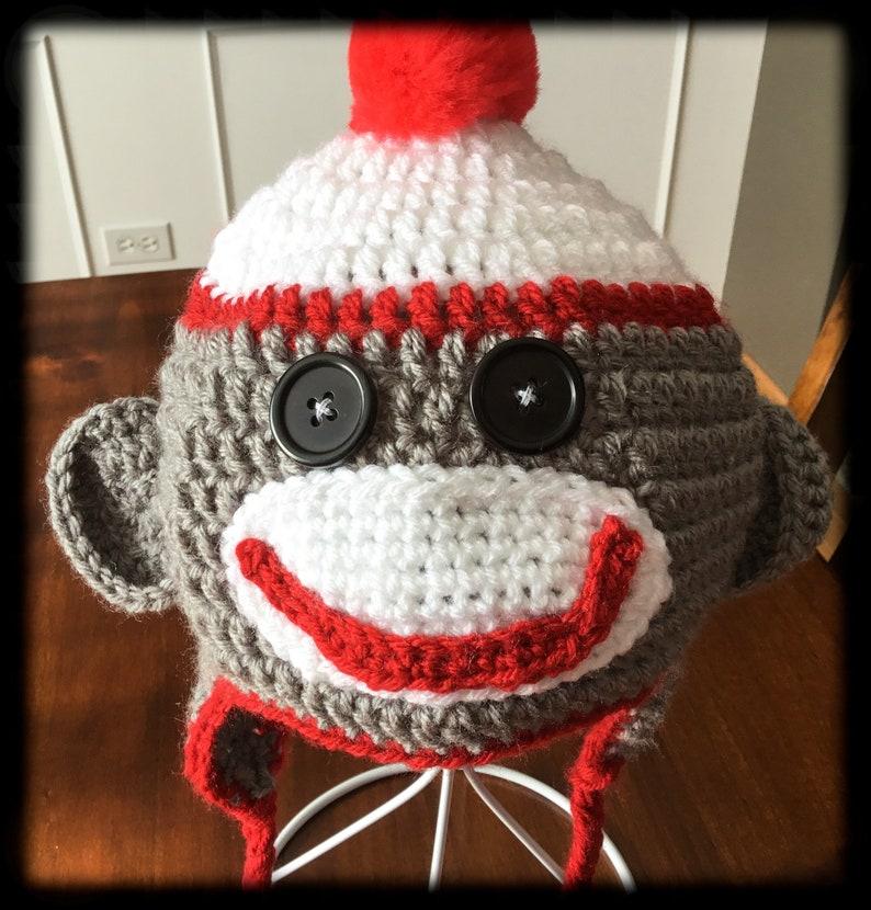 a2ccf141b998f Kids sock monkey ear flap winter hat kids winter hats sock