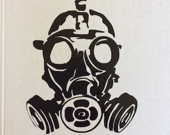 Gas mask vinyl decal