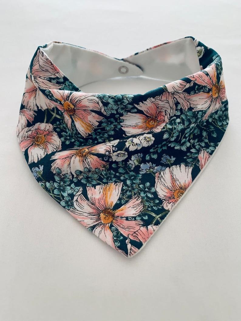 Handmade Cotton Floral Bib