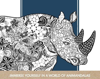 Animandalas Adult Colouring Book   Immerse Yourself in Creativity