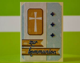 Greeting Card-communion-handmade single piece