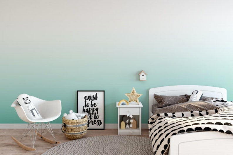 Mermaid Teal Removable Wallpaper // Aqua Ombre Peel and Stick Wallpaper // Teal ... Mermaid Teal Removable Wallpaper // Aqua Ombre Peel and Stick Wallpaper ...