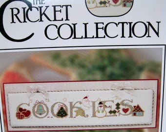 The Cross Eyed Cricket Christmas counted  cross stitch pattern, December cross stitch.