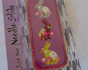 Just Nan Bunny Needle Slide, Just Nan Design, Magnetic Needle holder, Needle Tin, Needle Box