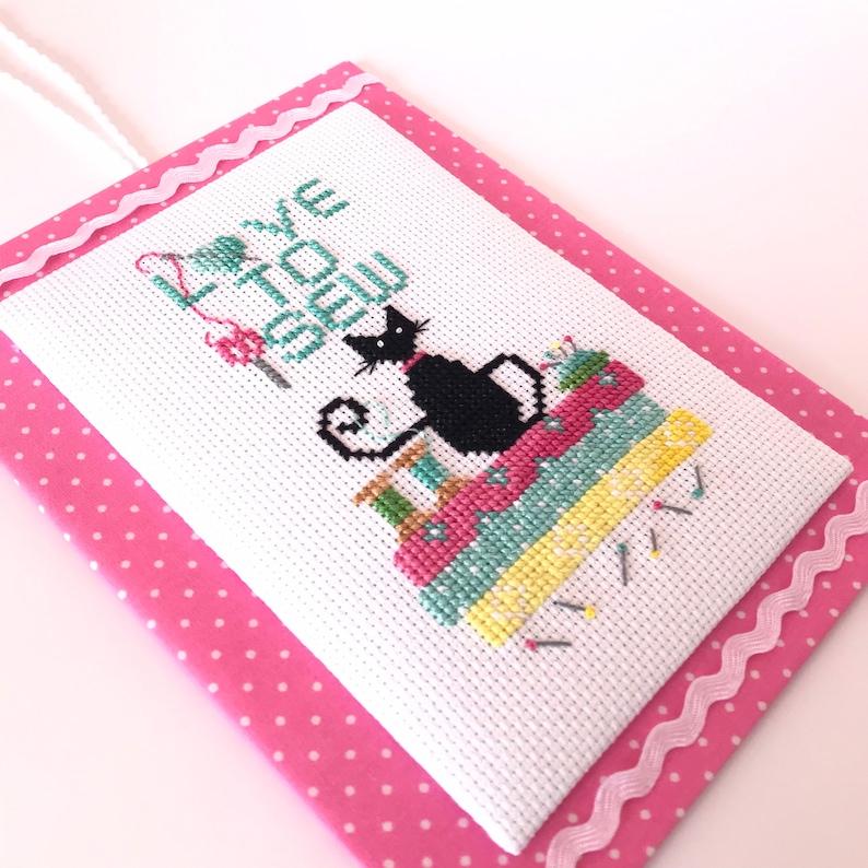 Cross Stitch Cat pdf cross  stitch pattern Love to Sew image 0