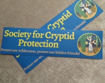 Society for the Protection of Cryptids- Jackalope Vinyl paper Bumper Sticker