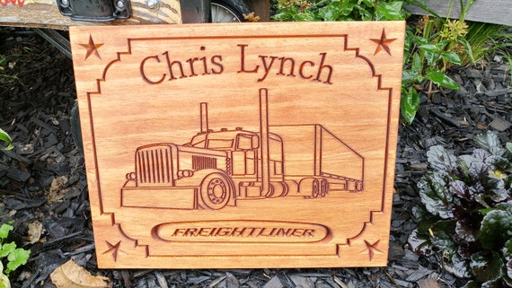 Personalized truck drivers sign