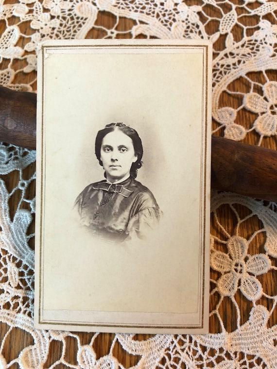Steuer Stempel CDV Viktorianische Frau Carte De Visite