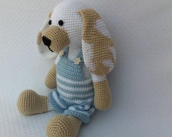 Amigurumi puppy,Crochet puppy,Yarn dog,Stuffed dog,White soft puppy