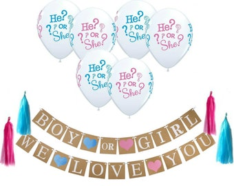 Gender Reveal Decorations Kit  14d9ee588