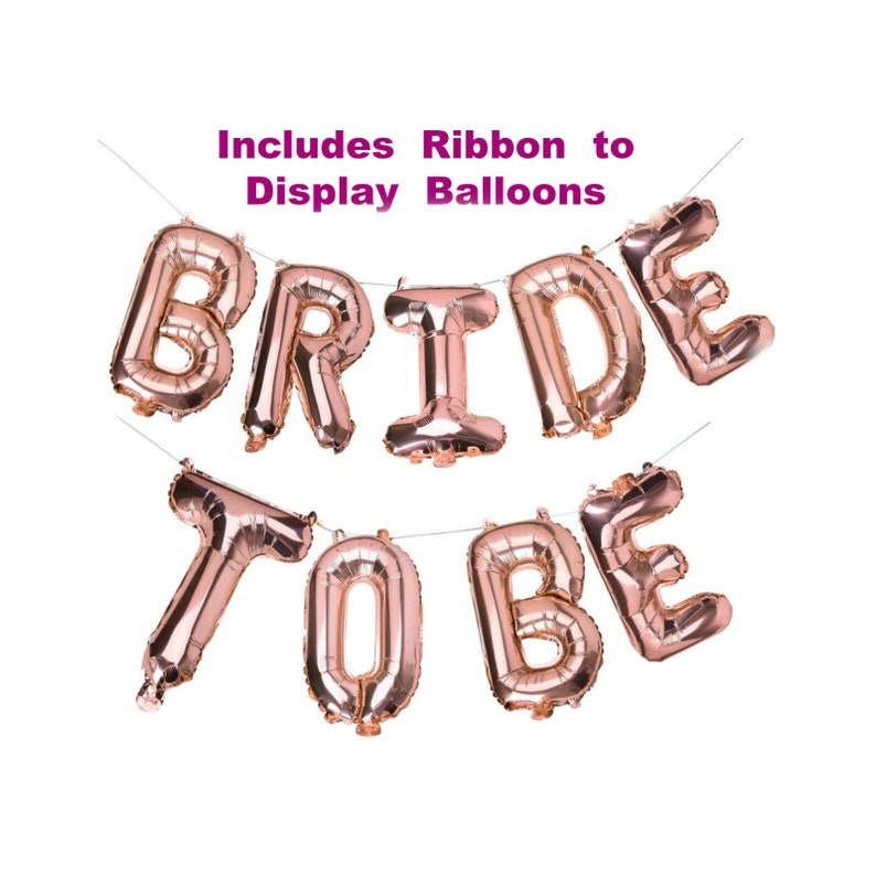 76216cffe4a2 Rose Gold Bridal Shower Decorations Bride to Be Balloons