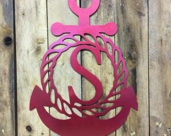 Anchor Door Hanging With Custom Initial