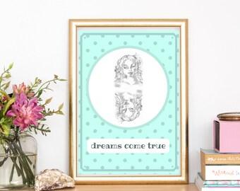 dreams come true room poster