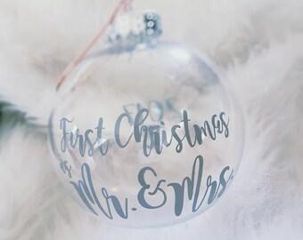 Newlywed First Christmas Ornament - Wedding Gift