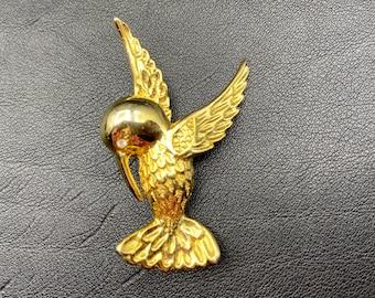 U7 Coloré Hirondelle Oiseau Broche 18K plaqué or Femmes Chemise Fête Accessoire