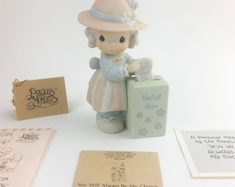 Vintage Precious Moments 1989 Members Only You Will Always Be My Choice Figurine PM891