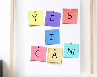Motivational Poster, Inspirational Wall Art, Inspirational Quotes, Cubicle Decor, Office Desk Accessories, Office Art, Kids Room Decor