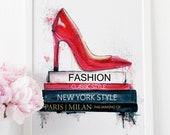 Fashion Wall Art, New York Print, Bathroom Vanity, Cubicle Decor, Makeup Poster, Fashion Illustration, Office Desk Accessories, Paris Decor