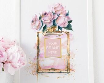 Fashion Wall Art, Chanel Print, Chanel, Perfume Bottle, Bathroom Vanity, Chanel Poster, Coco Chanel, Perfume Bottle Print, Chanel Decor