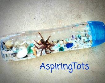 Large Aquarium Sensory Bottle Fidget Toy Ocean-theme Sensory Bottle Quiet Bottle Time-out Bottle Calm Bottle, Sensory Processing, Desk Toy