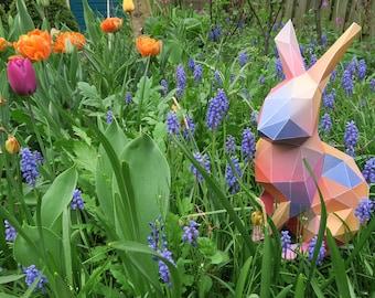 Bunny low poly papercraft