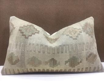 kilim pillow,vintage,turkish kilim pillow,cushion,handwoven pillow,throw pillow,accent pillow,12x20,home living,home decor,decorative pillow