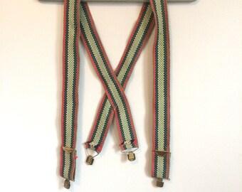 Wide Woven Suspenders
