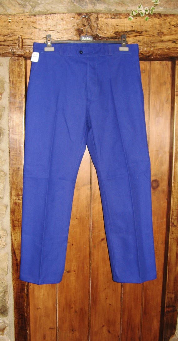 Vintage French Blue Work Wear/Trousers ~ Fabrique