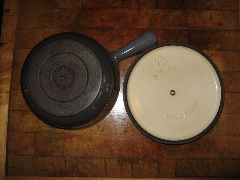 PanSaucepan ~ 20cm ~  Le Belle Epoque Grey Caviar Collection ~ 1960/'s Le Creuset A Fabulous Rare Vintage Cousances
