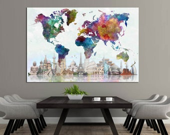 Subway Map Wall Art Wall Art Stickers Wall Decal Huge Underground Tube Map.Map Canvas Print Etsy