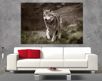 wolf wall art etsy