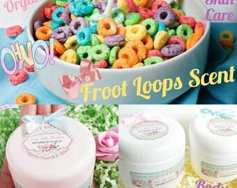 Body butter Fruit-Loop scent | Hand cream | Foot cream | Massage oil | Vegan Organic | Whipped body butter
