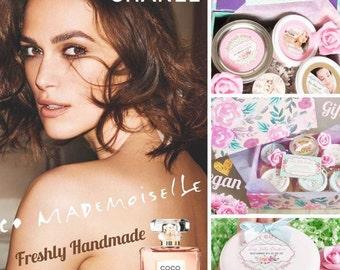Body butter Mademoiselle scent | Hand cream | Foot cream | Massage oil | Organic vegan | whipped body butter