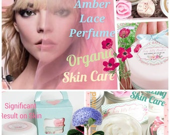 Body butter Sensual Amber Lace perfume | Hand cream | Foot cream | Massage oil | Organic vegan | Whipped body butter