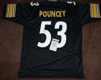 63299f1f607 Steelers Maurkice Pouncey hand-signed custom jersey...JSA