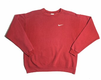 outlet store a90f8 794d5 Vintage Nike Crewneck Sweatshirt Embroidered logo Medium Size