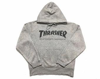 722c18ac19a0 Thrasher Skateboard Magazine Hoodie Sweatshirt Small Size