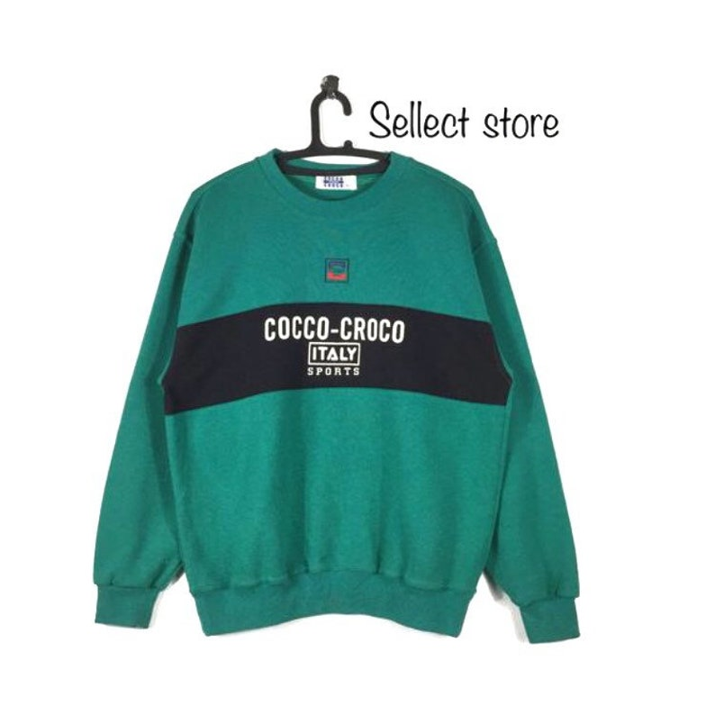 e1213b4d85a0d Vintage COCCO CROCO Sport Spell Out Crewneck sweatshirt MEDIUM Size